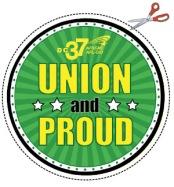 UNION PROUD cutout