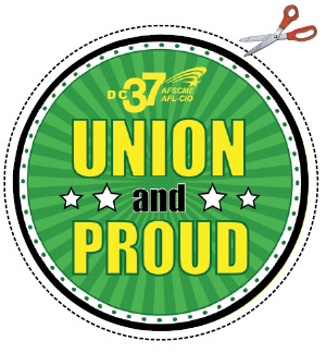 UNION PROUD cutout