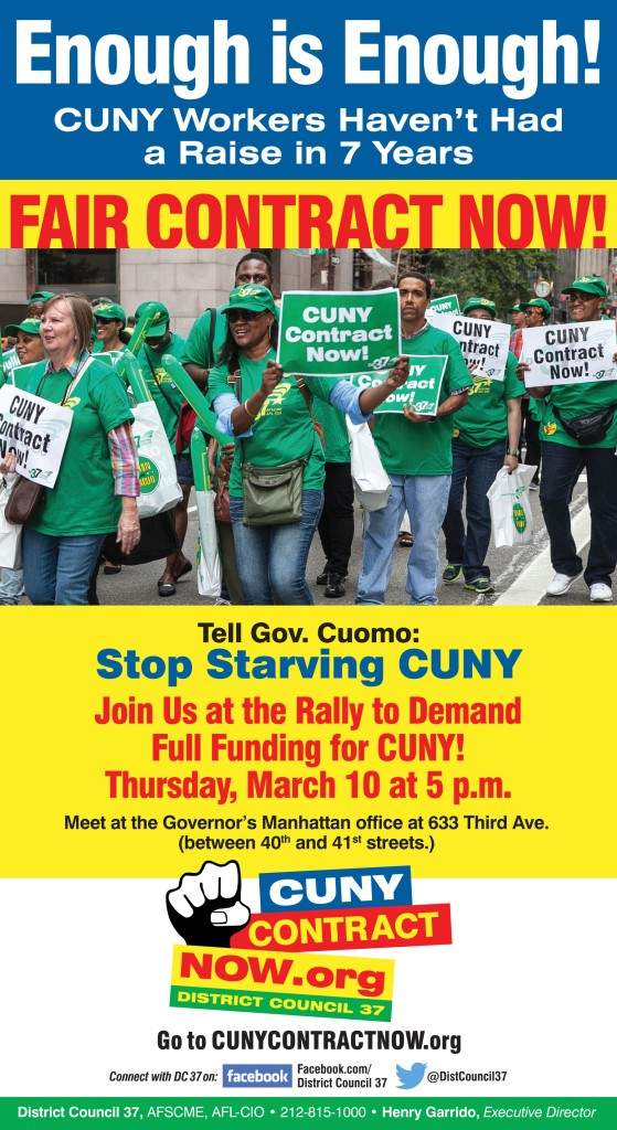 Enough is Enough! CUNY POST card