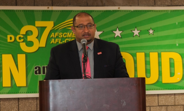 """""""A good union fights for all workers,"""" said DC 37 Executive Director Henry Garrido at the launch of the Office of Community Partnership on May 16."""