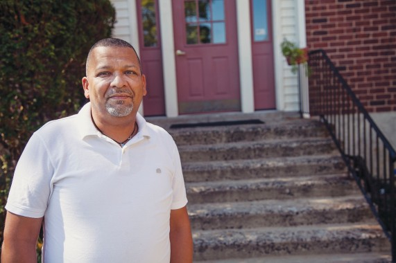 """""""I never thought in a million years I would own a two-bedroom co-op for less than I paid in rent,"""" said Robert Cameron, a member of Local 372. Photo by Clarence Elie-Rivera"""