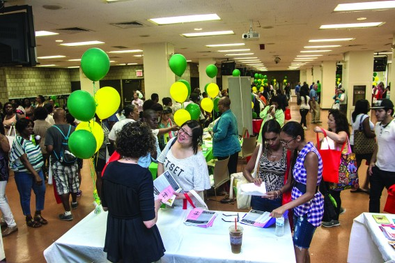 HELP AT HAND: Union members found keys to homeownership at DC 37's annual housing fair July 30. Photo: Mike Lee