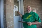 DC 37 volunteers went door-to-door for candidates on Primary Day, Sept. 13. Photo Clarence Elie-Rivera