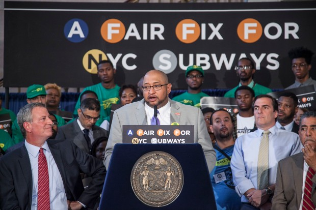 Mayor's MTA Press Conf. Brooklyn