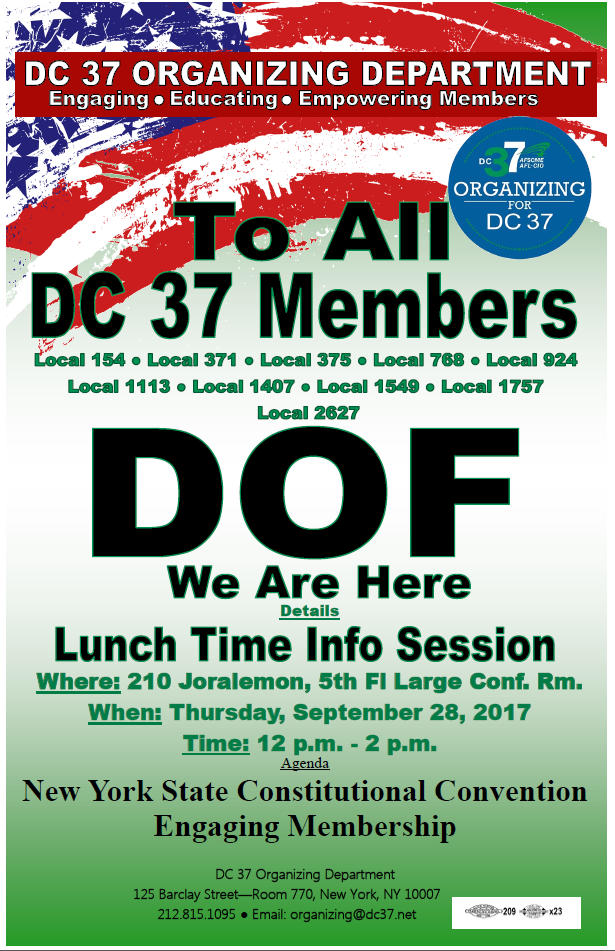 Union Sets Fall 2017 Lunch Time Info Sessions And Activist