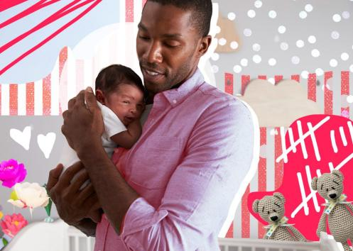 family leave benefit man with baby